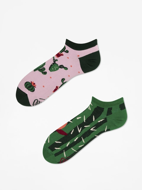 Many Mornings Socken Summer Cactus Low (green/pink)