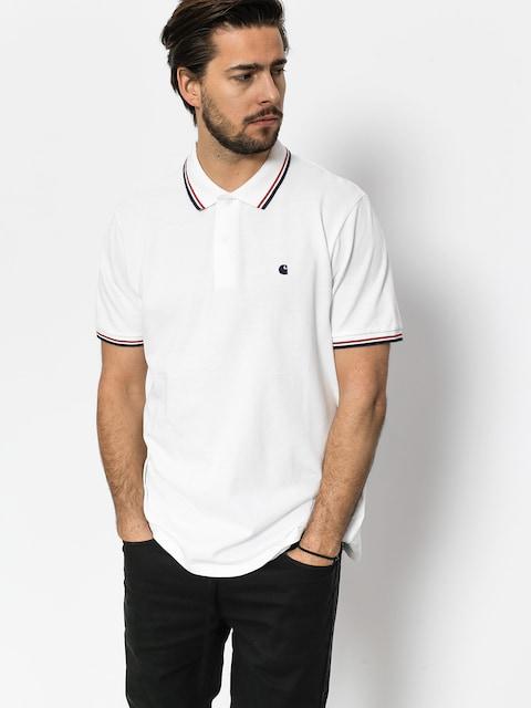 Carhartt Polo t-shirt Venice (white/navy/goji)