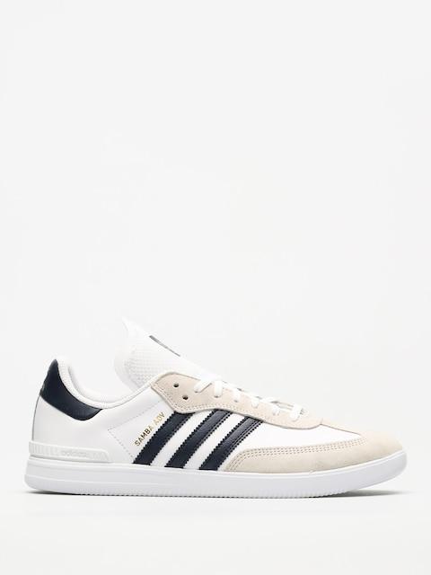 adidas Shoes Samba Adv (ftwr white/collegiate navy/gold met.)