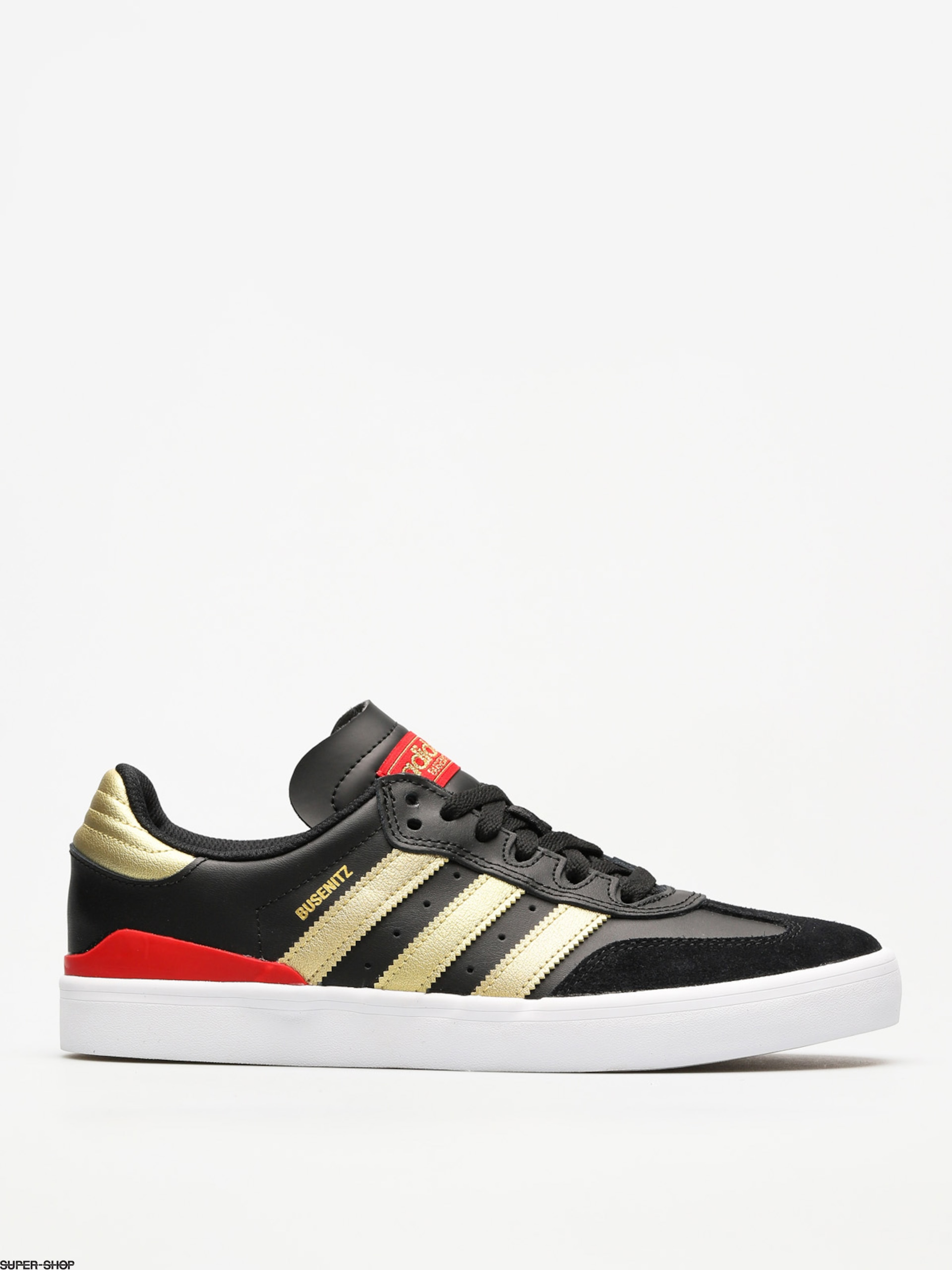 6184fe6addef72 adidas Shoes Busenitz Vulc Rx (core black gold met. scarlet)