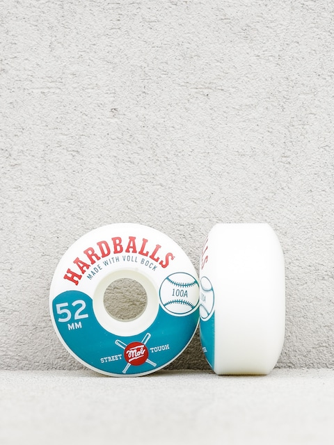 Mob Skateboards Wheels Hardballs (white/teal)