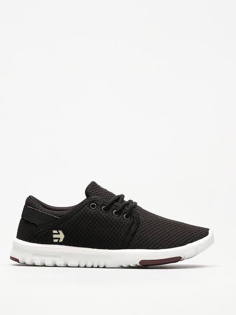 Etnies Schuhe Scout Wmn (black/white/burgundy)