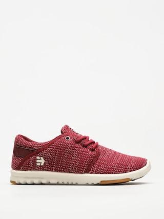 Etnies Shoes Scout Wmn (burgundy/tan/gum)
