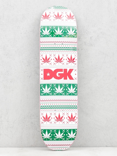 DGK Deck Pixel Logo (white/green/red)