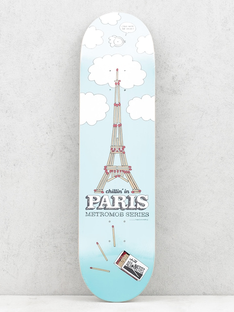 Mob Skateboards Deck Paris (blue)