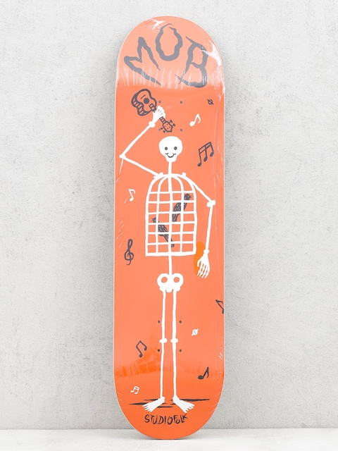 Mob Skateboards Deck Skeletown (red)