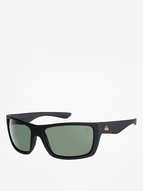 Quiksilver Sonnenbrille Hideout Plz (matte black/green p)