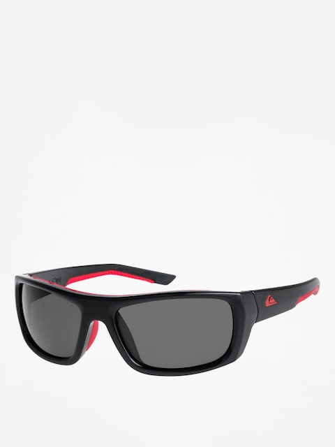 Quiksilver Sunglasses Knockout (shiny black red/gre)