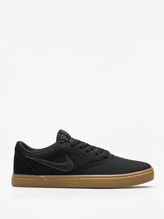 Nike SB Shoes Sb Check Solarsoft Canvas (black/black gum light brown)