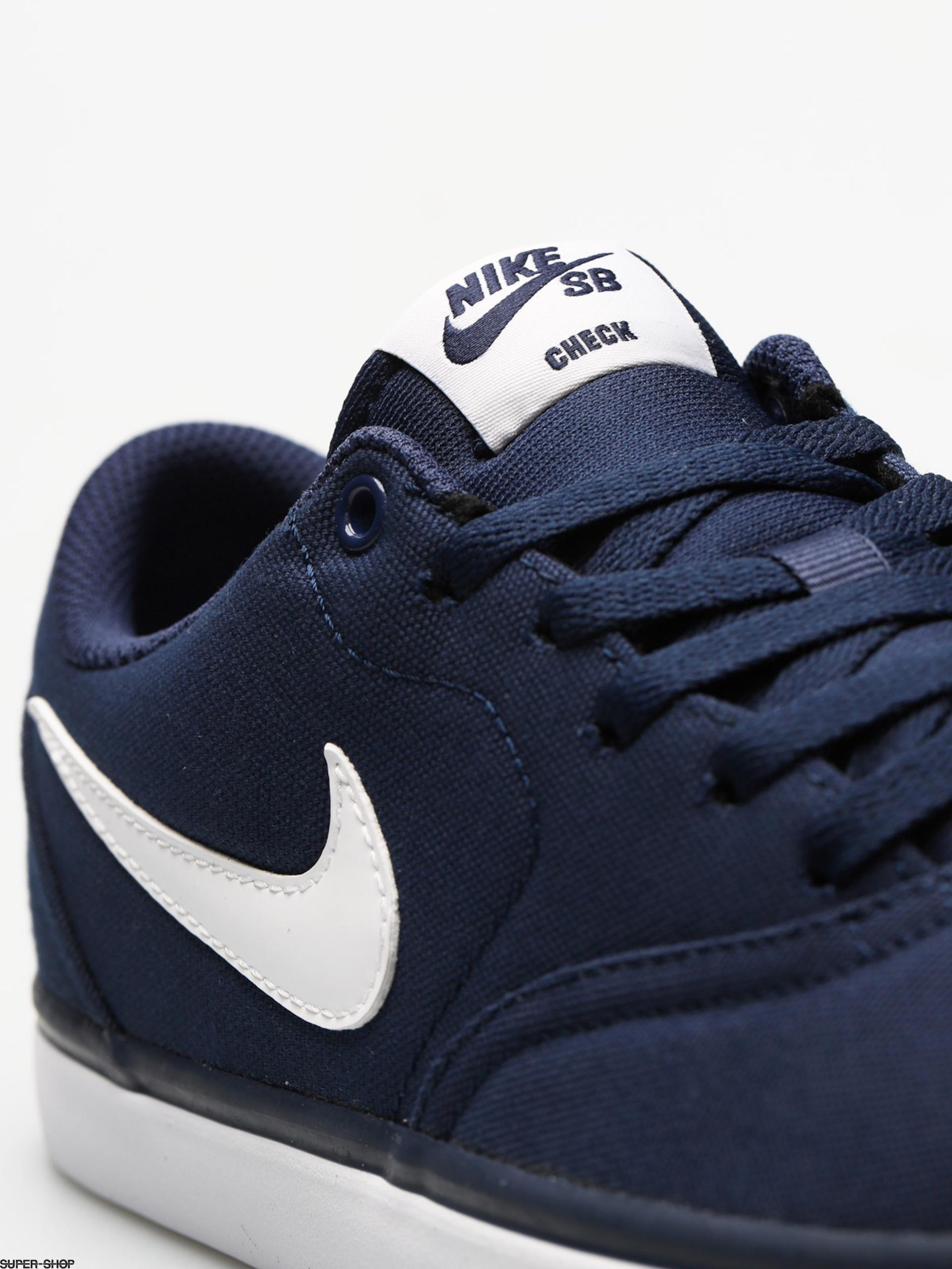Azul (Midnight NavyWhite 001) Nike SB Check Solar Cnvs