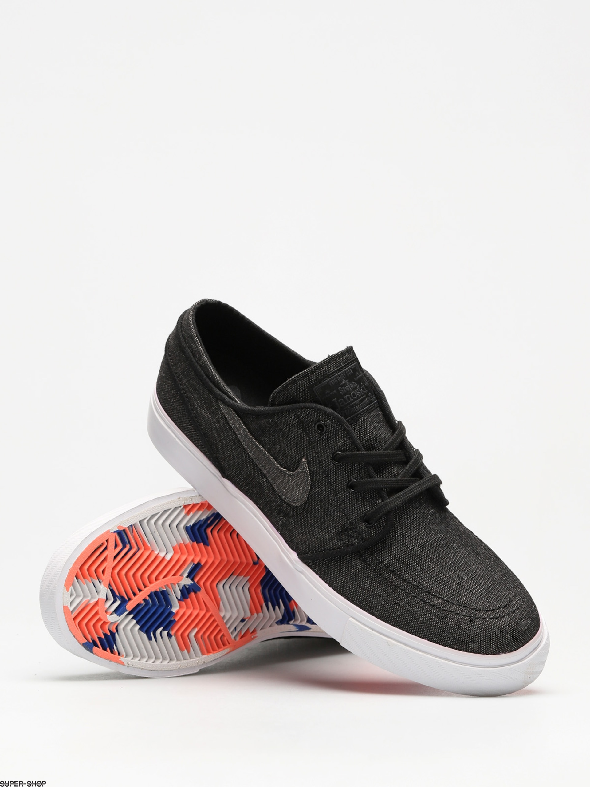 160f74a7f8 Nike SB Shoes Sb Zoom Stefan Janoski Canvas Deconstructed (black anthracite  white hyper royal)