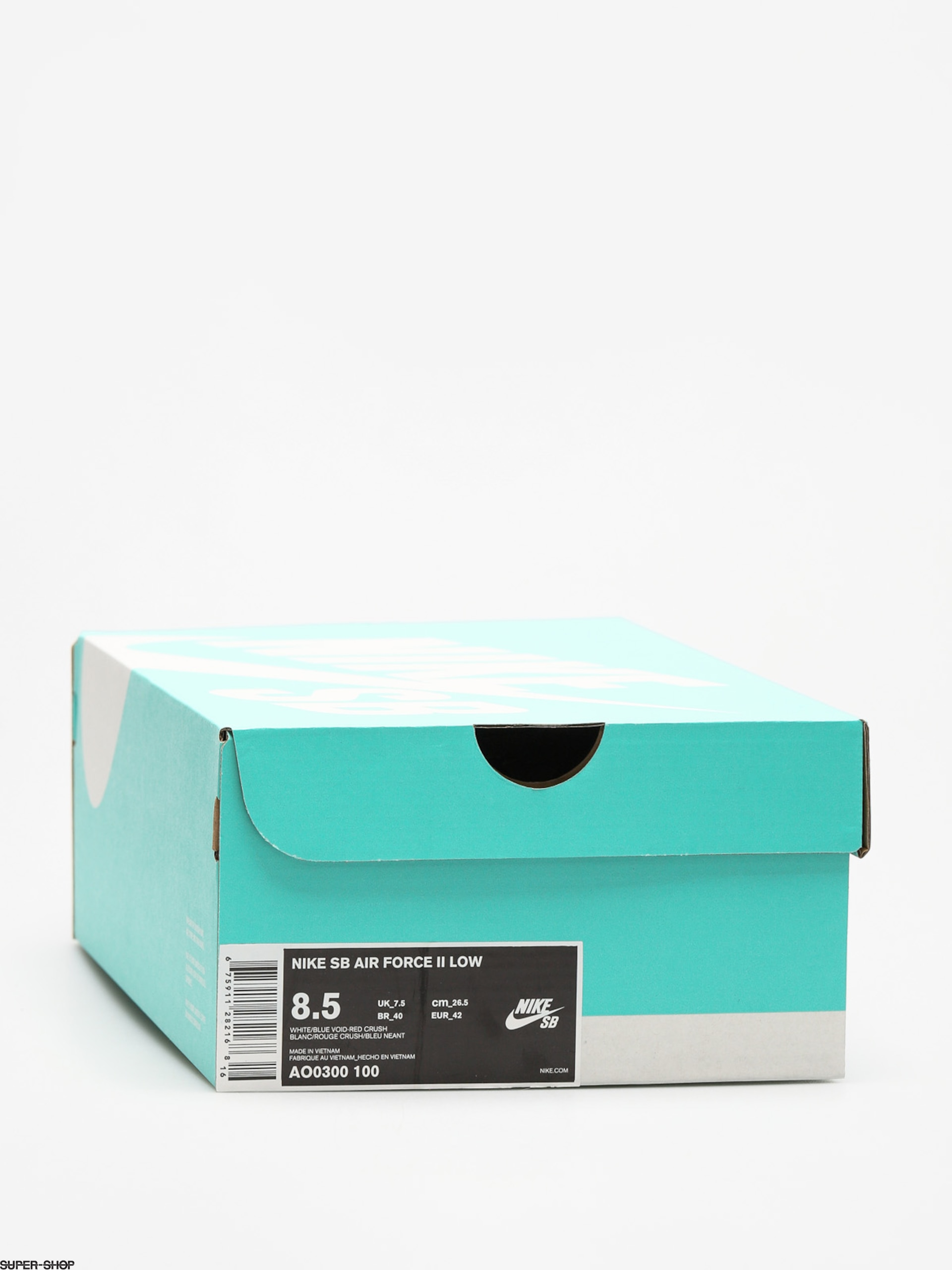 reputable site 3a237 234b5 Nike SB Shoes Air Force II Low (white blue void red crush white)