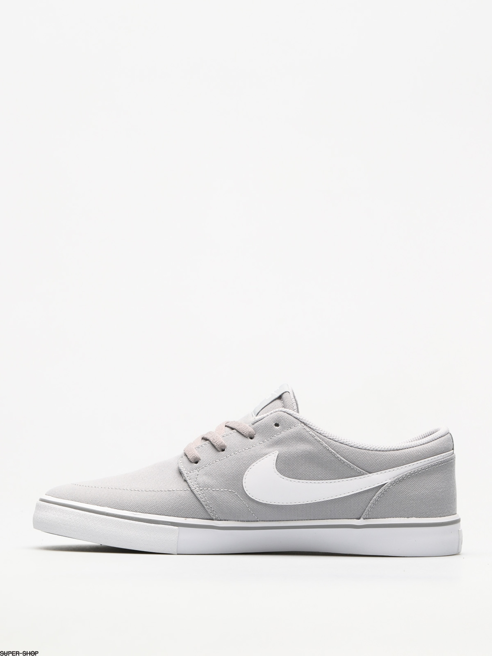 Nike SB Shoes Sb Solarsoft Portmore II Canvas (wolf grey white black) 8934e91f3