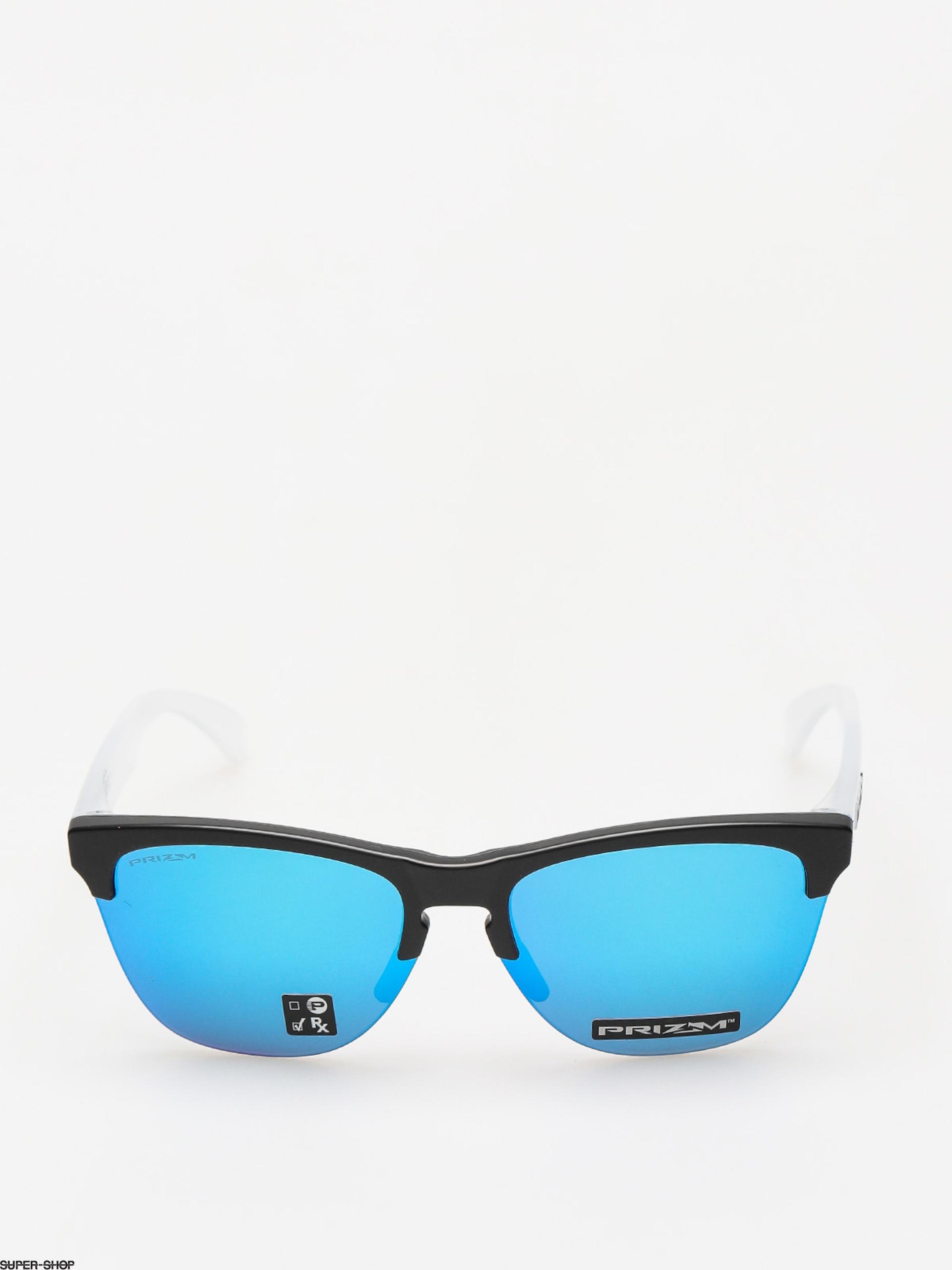 Oakley Sonnenbrille Frogskins Lite Matte Black/Matte Clear/Prizm Sapphire Iridium IPLAeC