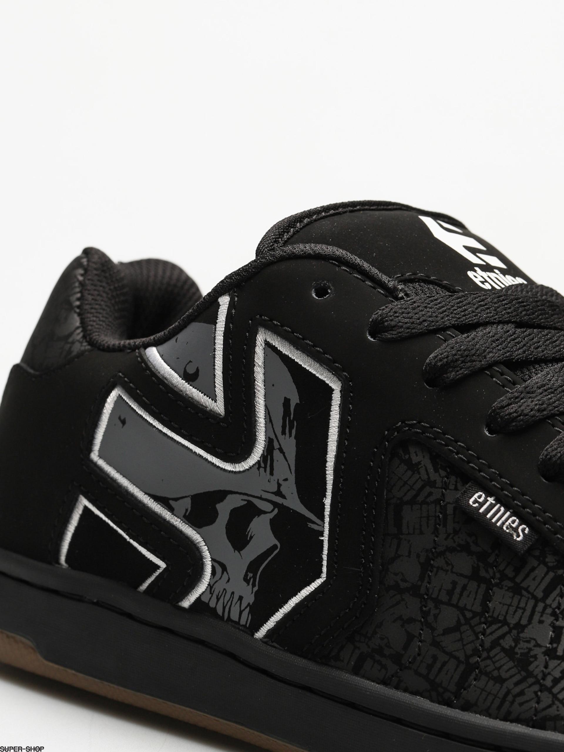 Black White Grey Etnies Metal Mulisha Fader 2 Shoes