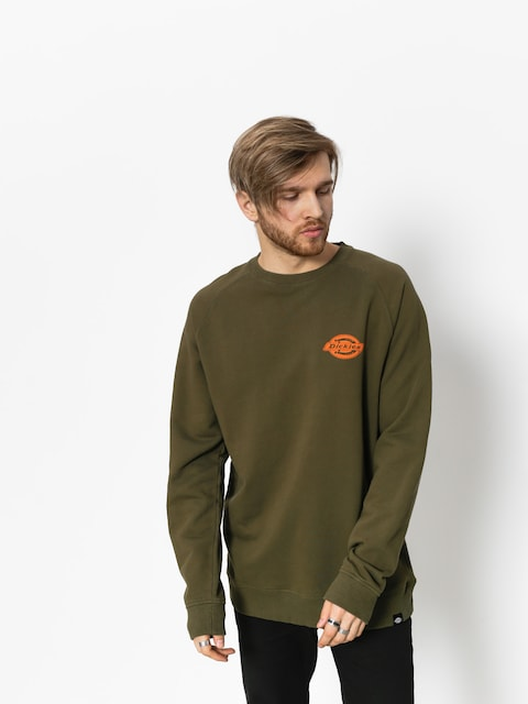 Dickies Sweatshirt Briggsville (dark olive/orange)