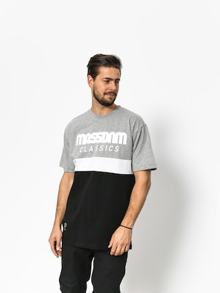 MassDnm T-shirt Respect (light heather grey/black)