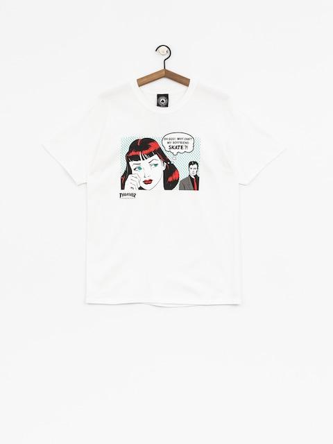 Thrasher T-shirt New Boyfriend (white)