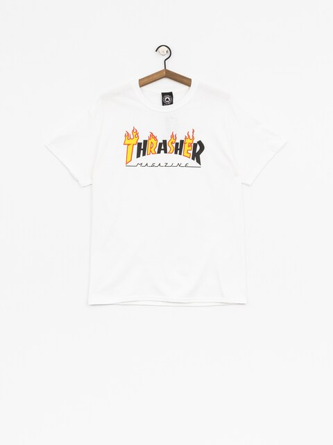 Thrasher T-Shirt Flame Mag (white)
