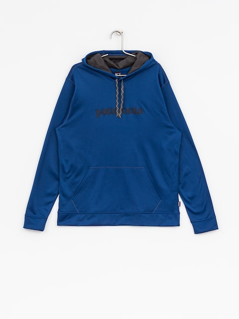 Patagonia Hoodie Text Logo PolyCycle HD (superior blue)