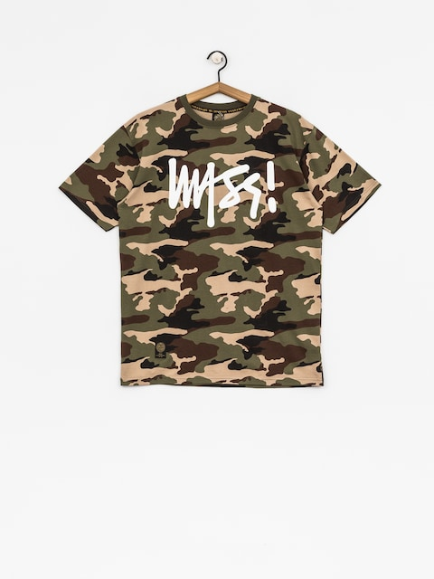 MassDnm T-shirt Signature (woodland camo)
