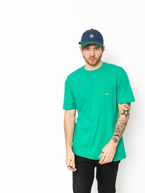 HUF T-Shirt Box Logo Pocket (emerald)