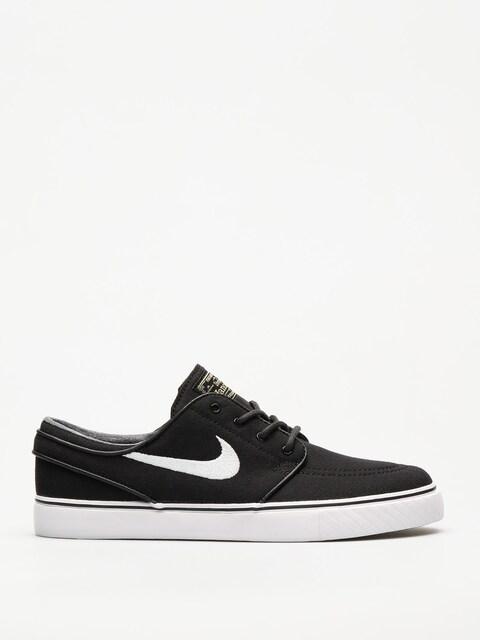 Nike Shoes Zoom Stefan Janoski CNVS (blk/white gm lght brwn mtlc gl)