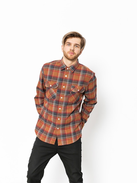 Brixton Hemd Bowery Flannel (navy/copper)