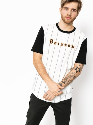 Brixton T-shirt Proxy Henley (black/off white)