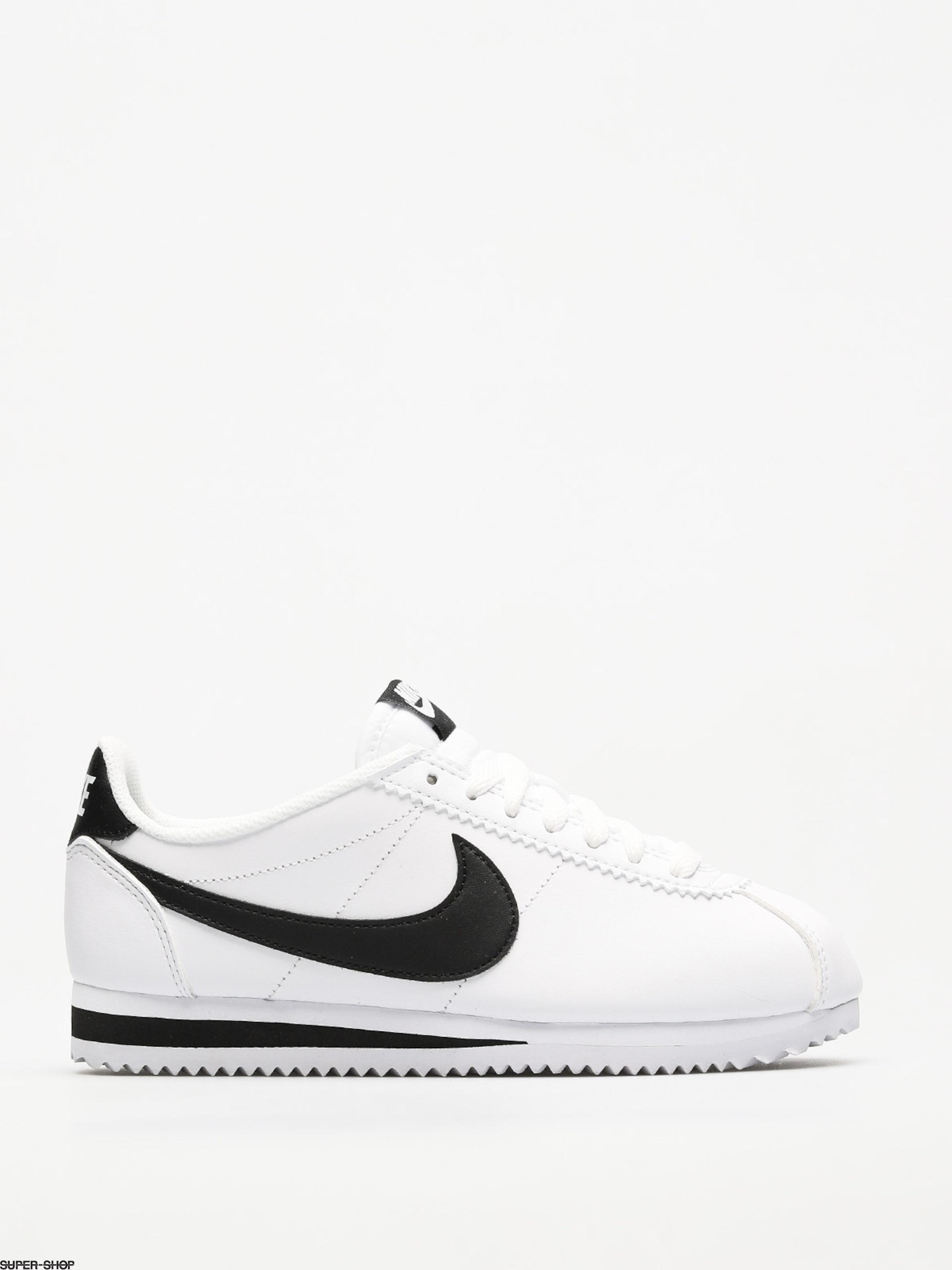 nike leather white cortez sneakers