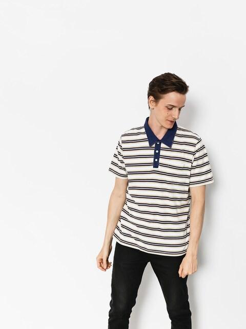 Brixton Polo t-shirt Murph (cream/navy)