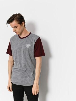 Brixton T-shirt Novato Knit (heather grey/maroon)