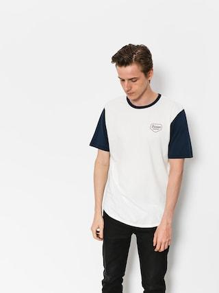 Brixton T-shirt Novato Knit (off white/navy)