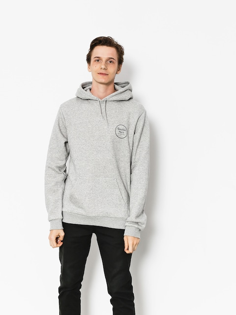 Brixton Hoodie Wheeler III Eu HD (heather grey/black)