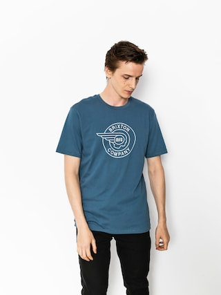 Brixton T-shirt Mercury Prt (dusty blue)