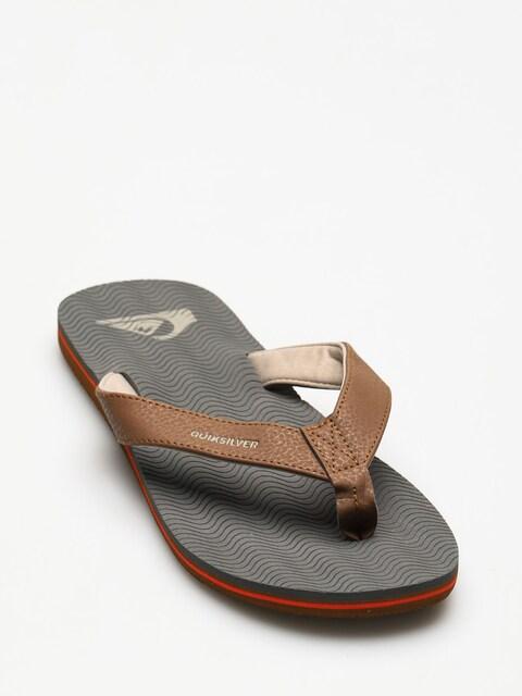 Quiksilver Flip-flops Molokai Laser Grip (grey/grey/orange)