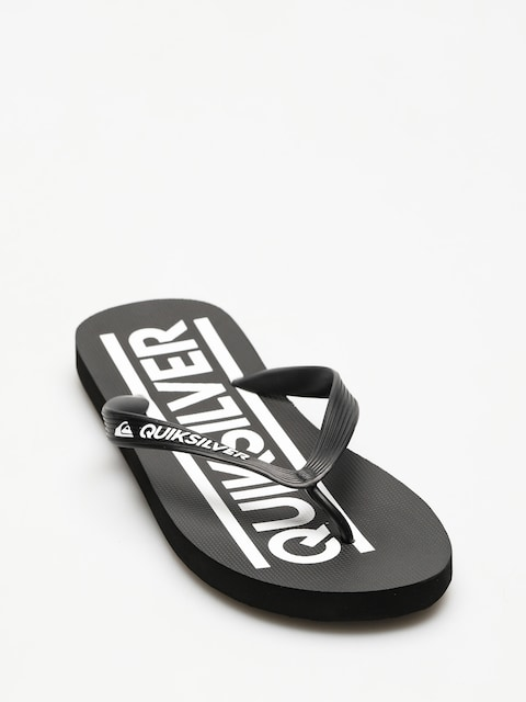 Quiksilver Flip Flops Java Wordmark (black/black/white)
