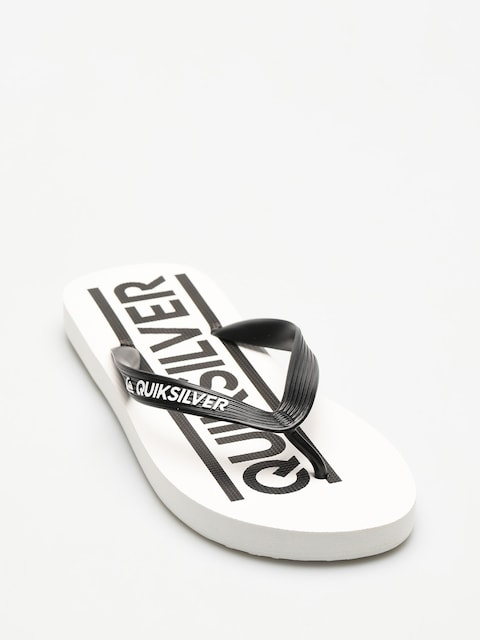 Quiksilver Flip Flops Java Wordmark (black/white/white)