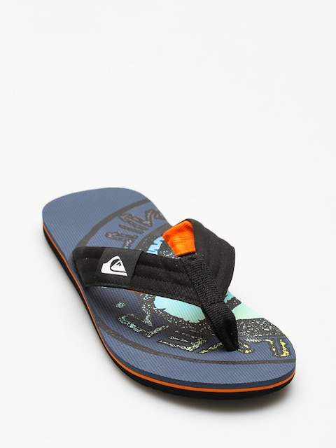 Quiksilver Flip-flops Molokai Layback (black/orange/green)