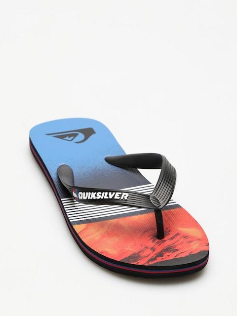 Quiksilver Flip-flops Molokai Lava Divsion (black/red/blue)