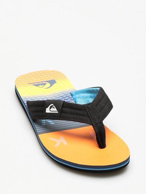 Quiksilver Flip-flops Molokai Layback (black/orange/blue)