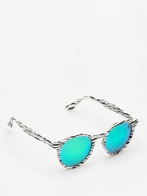Majesty Sunglasses Lynx (zebra/green mirror lens)