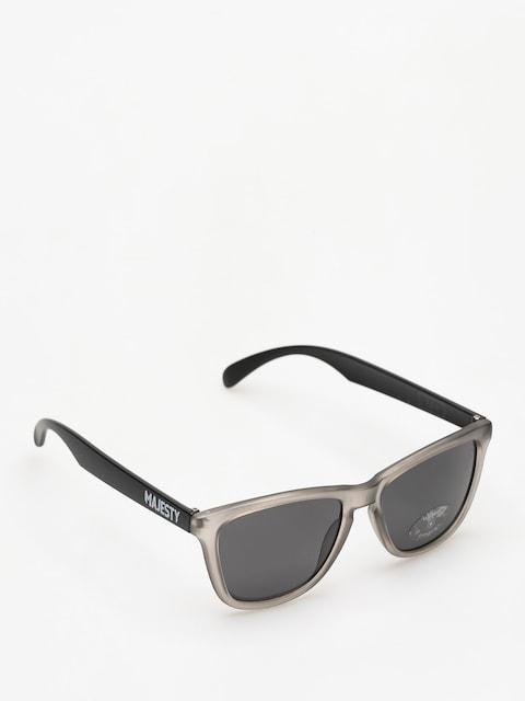 Majesty Sunglasses Frosted (Grey/Black Smoke Lens)