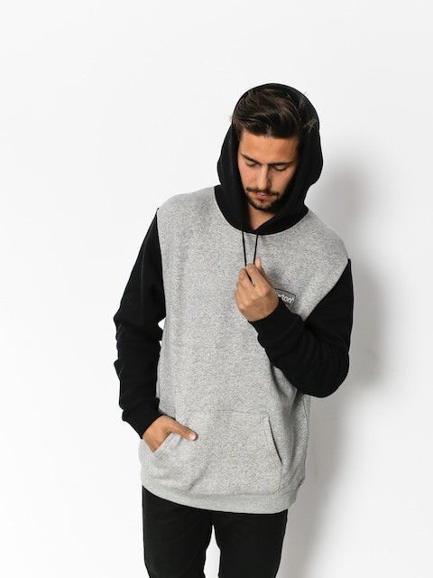 Brixton Hoodie Palmer Intl HD (heather grey/black)