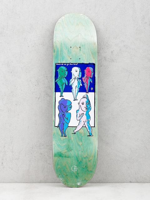 Polar Skate Deck Team Where Do We Go From Here (light green)