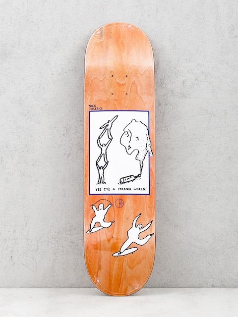 Polar Skate Deck Its A Strange World Nick Boseiro (orange)