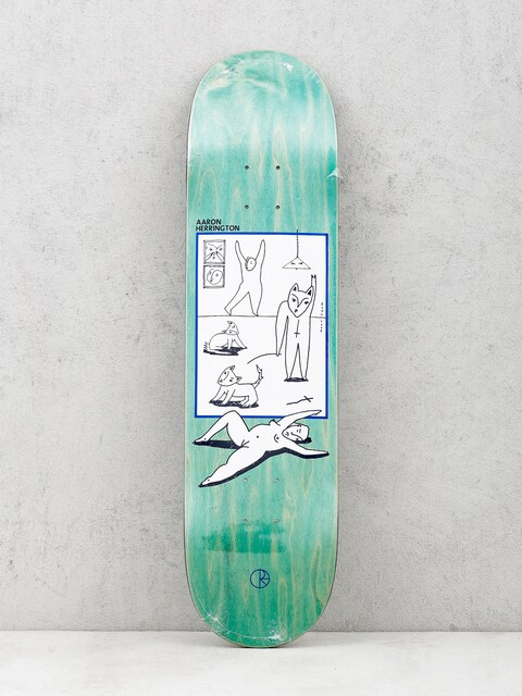 Polar Skate Deck Evole Love Aaron Herrington (green)