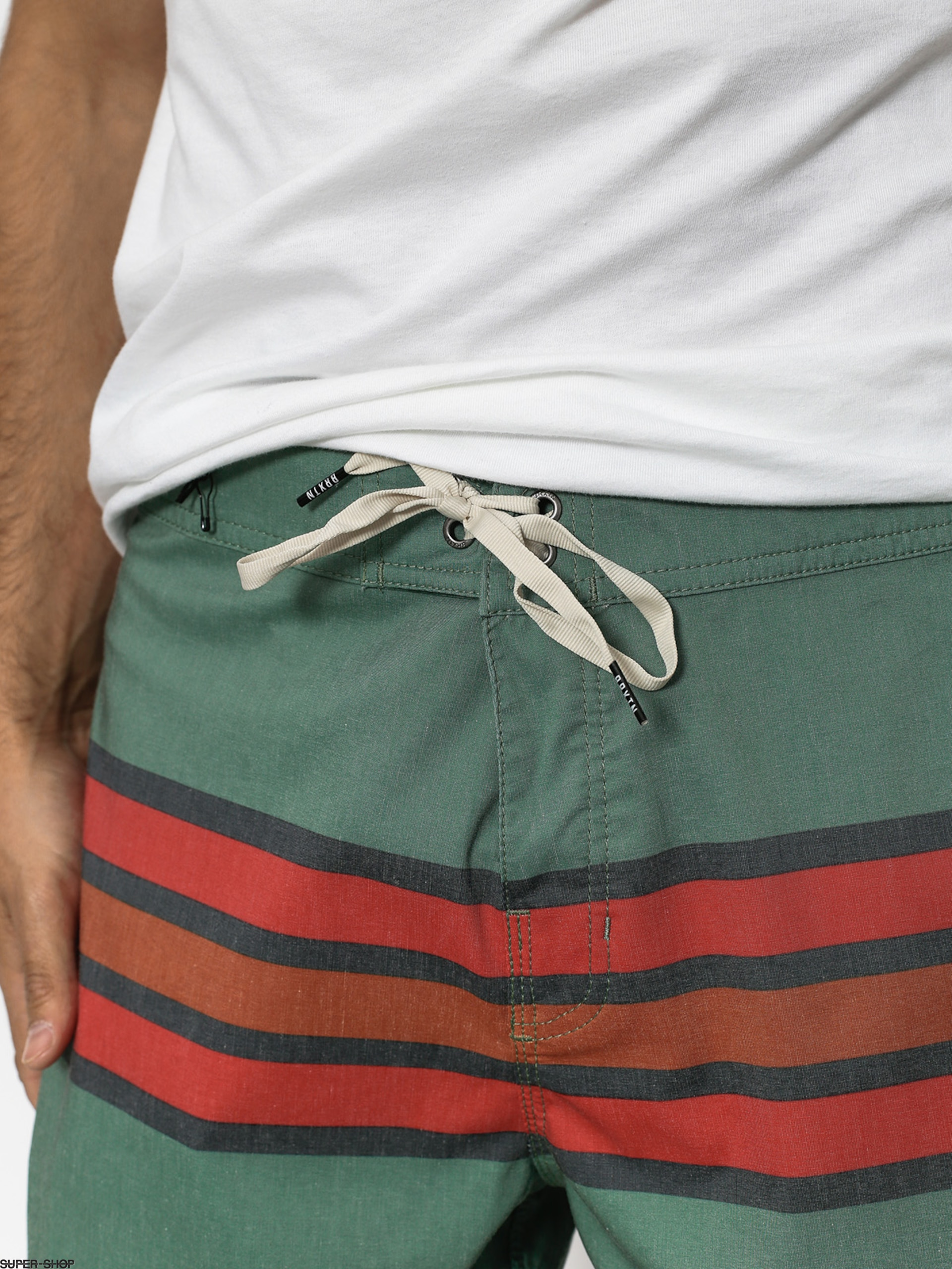 2402931a9046c Brixton Shorts Boardshorty Barge Stripe Trunk (jade)