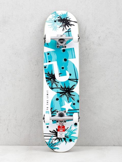 DGK Skateboard Push It (white/teal)