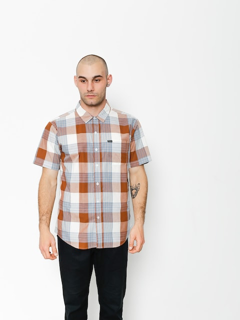 Brixton Shirt Charter Wvn (brown/cream)